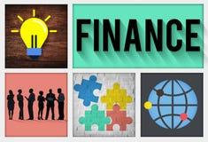 Concept van het de Investeringsbankwezen van de financiën het Financiële Economie stock illustratie