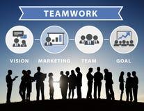 Concept van het de Verbindingsgroepswerk van de bedrijfsmensen het Collectieve Vergadering vector illustratie