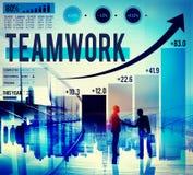 Concept van het de Verbindingsvennootschap van de groepswerk het Collectieve Samenwerking royalty-vrije illustratie