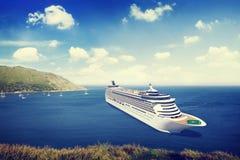 Concept van het de Zomereiland van de cruisebestemming het Oceaan Stock Foto's