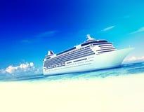 Concept van het de Zomereiland van de cruisebestemming het Oceaan Royalty-vrije Stock Afbeeldingen