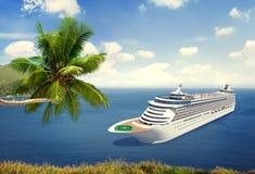 Concept van het de Zomereiland van de cruisebestemming het Oceaan Royalty-vrije Stock Foto's