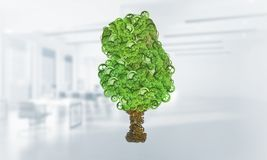 Concept van het Eco het groene milieu dat door boom als werkende mechanisme of motor wordt voorgesteld Royalty-vrije Stock Foto