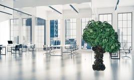 Concept van het Eco het groene die milieu door boom als het werk mecha wordt voorgesteld Royalty-vrije Stock Foto's