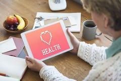Concept van het gezondheidszorg het Gezonde Leven stock afbeeldingen
