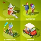 Concept van het golf2x2 het Isometrische Ontwerp stock illustratie