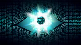 Concept van het grote broer het elektronische oog, technologieën voor het globale toezicht stock illustratie