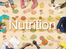 Concept van het het Dieet het Gezonde Leven van het voedingsvoedsel stock afbeelding