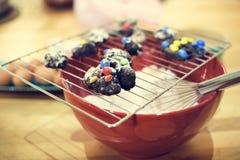 Concept van het het Recepten het Eigengemaakte Gebakje van koekjesingrediants Royalty-vrije Stock Afbeeldingen