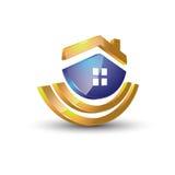 Concept van het huis 3d embleem vector illustratie
