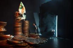 Concept van het zakenlieden het Kwade Geld stock foto's