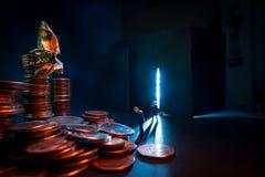 Concept van het zakenlieden het Kwade Geld stock afbeeldingen
