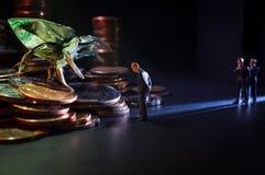Concept van het zakenlieden het Kwade Geld royalty-vrije stock afbeelding