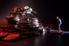 Concept van het zakenlieden het Kwade Geld stock fotografie