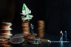 Concept van het zakenlieden het Kwade Geld royalty-vrije stock foto