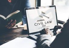 Concept van Legal Regulation Rights van de Burgerlijk recht het Gemeenschappelijke Rechtvaardigheid royalty-vrije stock afbeeldingen