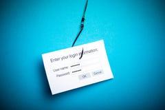 Concept van Malware het phishing gegevens Stock Afbeelding