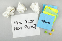Concept van nieuwjaar het Nieuwe Plannen Royalty-vrije Stock Fotografie