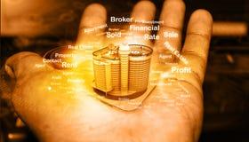Concept 6 van onroerende goederen royalty-vrije stock afbeeldingen