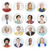 Concept van portret het Diverse Multi-etnische Vrolijke Mensen stock foto