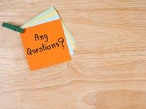 Concept 35 van vragenbusniess Stock Afbeeldingen