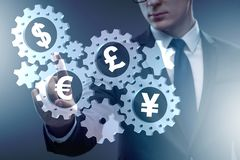 The concept of various main currencies stock photo