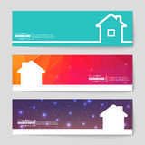 Concept vector banner background. Abstract creative concept vector background for Web and Mobile Applications, Illustration template design, business infographic Stock Photography