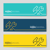 Concept vector banner background. Abstract creative concept vector background for Web and Mobile Applications, Illustration template design, business infographic Royalty Free Stock Photo