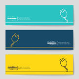 Concept vector banner background Stock Photography