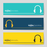 Concept vector banner background Royalty Free Stock Photos