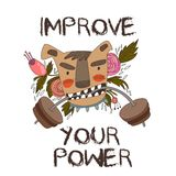 Concept Vector Card-Improve Your Power. Vector background. Royalty Free Stock Photos