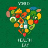 Concept Vector Card - World Health Day.EPS10 Royalty Free Stock Photo