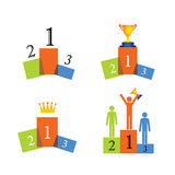 Concept vector icons of winner, podium, success Stock Photo