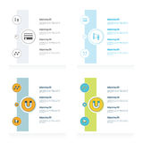 Concept vectors design set Royalty Free Stock Photo