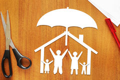 Concept veilige verenigde familie stock foto