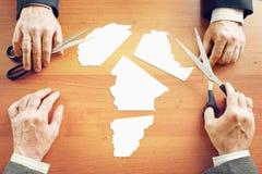 Concept verandering de politieke voorwaarden in Afrika stock foto's