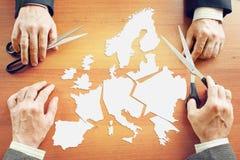 Concept verandering de politieke voorwaarden in Europa stock fotografie