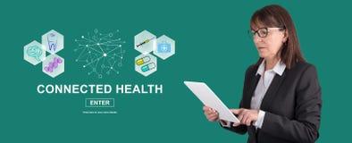 Concept verbonden gezondheid stock afbeelding