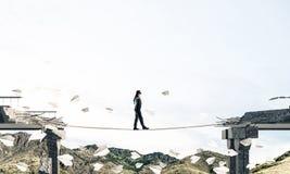 Concept verborgen risico's en gevaren stock illustratie