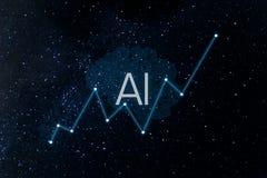 Concept vergrote analytics royalty-vrije stock afbeeldingen