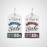 Concept verkoopmarkering voor Kerstmisviering Stock Afbeelding