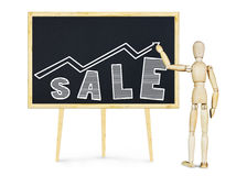 Concept verkoopverhoging Stock Foto