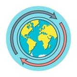 Concept verschepen het wereldwijd Vector Illustratie