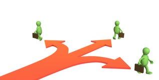 Concept - verschillende richting in zaken royalty-vrije illustratie