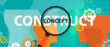 Concept versus conceptenidee van het denken analyse kritieke uitvoering royalty-vrije illustratie