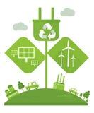 Concept vert d'écologie Photo libre de droits