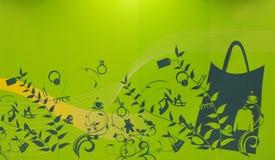 Concept vert d'achats Photographie stock