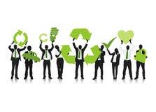 Concept vert d'affaires de la réutilisation illustration libre de droits