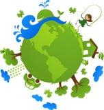 Concept vert d'eco de globe Photo libre de droits