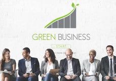 Concept vert d'Eco de responsabilité de conservation d'affaires photo libre de droits